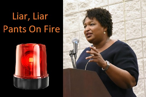 ALERT! Stacey Abrams Lied Today – Read It Here